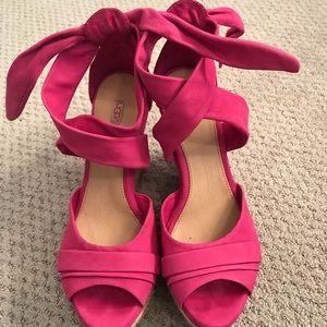 Pink ugg wedges